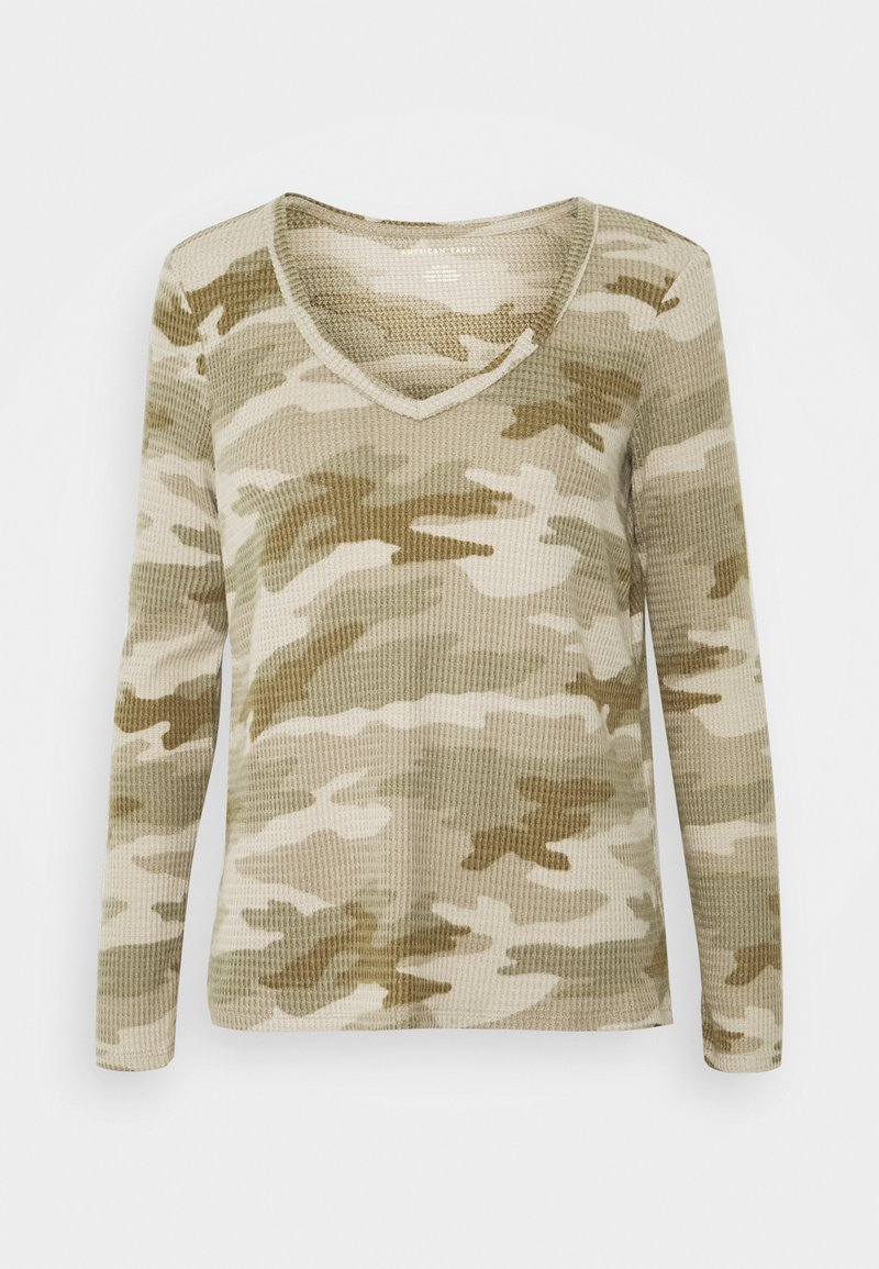 American Eagle - BUTTER PLUSH PRINT  - Long sleeved top - green