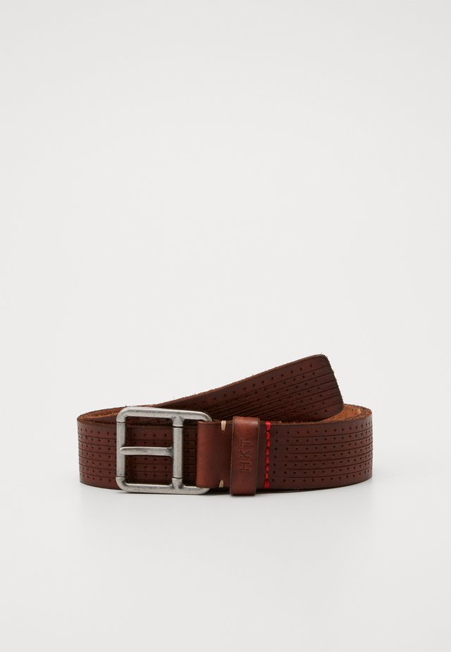 NEW PUNCH BELT - Vyö - brown