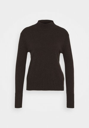 CASH MOCKNECK - Sweter - heather dark chocolate