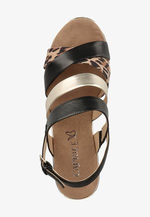Wedge sandals - leo comb 939