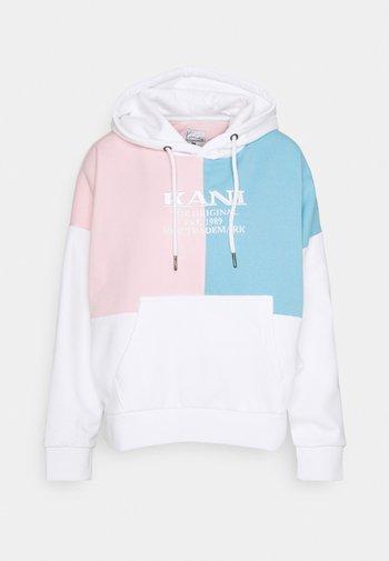 RETRO BLOK HOODIE - Sweatshirt - white