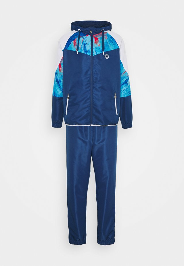 KAFIL TECH TRACKSUIT - Survêtement - dark blue/aqua