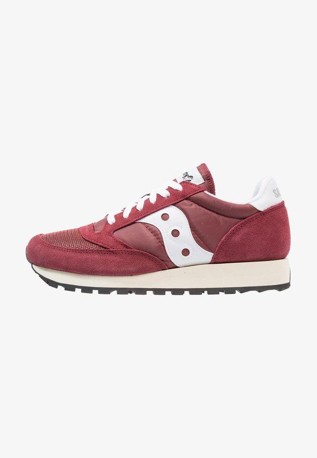 JAZZ ORIGINAL VINTAGE UNISEX - Sneakers laag - burgundy/white