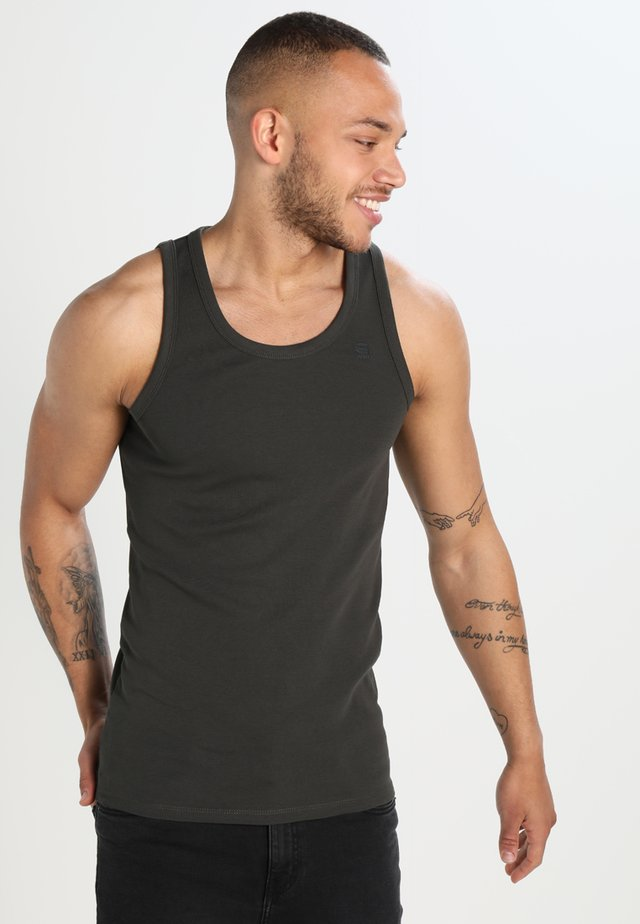 BASE TANKTOP 2 PACK - Top - asfalt