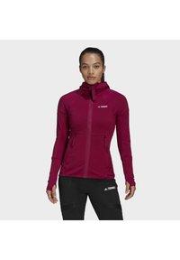 adidas Performance - Zip-up hoodie - burgundy - 0