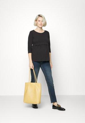 SHELLIE 2 PACK - Basic T-shirt - black/white