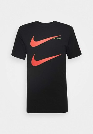 TEE - Print T-shirt - black/ember glow
