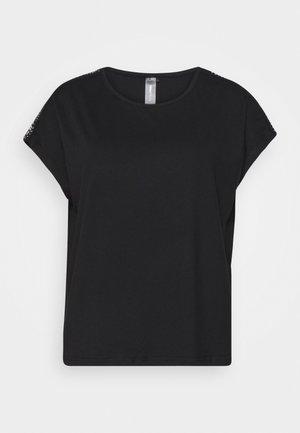 ONPADREY LOOSE TRAINING TEE - T-shirt imprimé - black/white