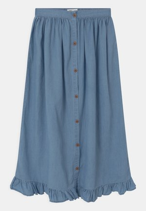 YASMIN - Maxi skirt - mid blue wash