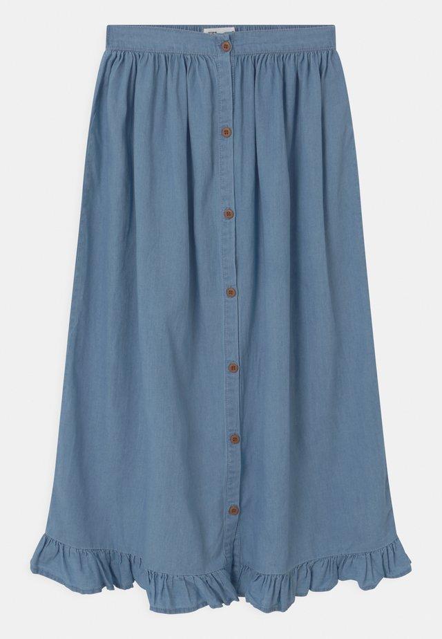 YASMIN - Maxi sukně - mid blue wash