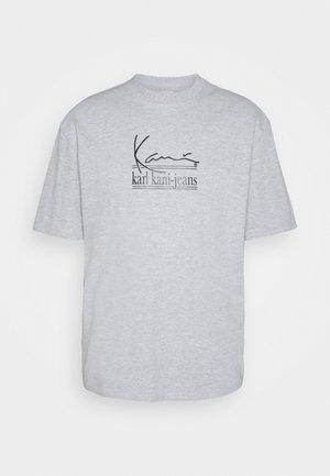 SIGNATURE TEE UNISEX - Print T-shirt - grey