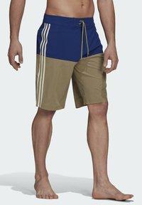 adidas Performance - Swimming shorts - mottled beige/ light blue - 0