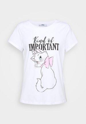 ONLARISTOCAT  - Print T-shirt - white