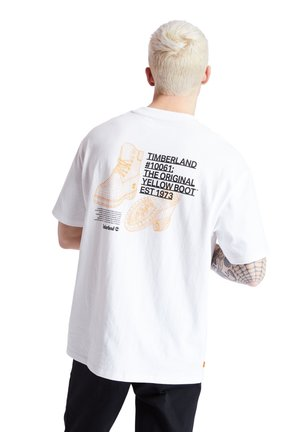 YC SS WORKWEAR TEE - Print T-shirt - white
