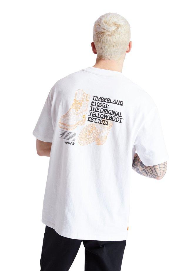 YC SS WORKWEAR TEE - T-shirt con stampa - white
