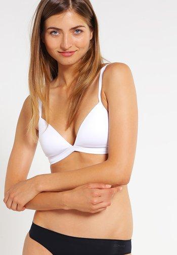 DAMEN TRIANGEL GEPADDET - Triangle bra - white