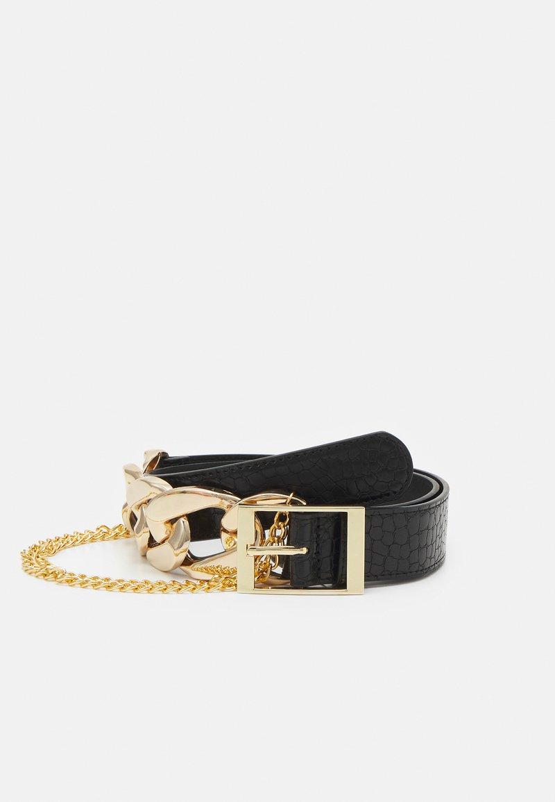 Pieces - PCALIYA WAIST BELT - Waist belt - black/gold-coloured