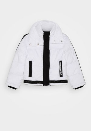 PUFFER JACKET - Zimní bunda - white/black