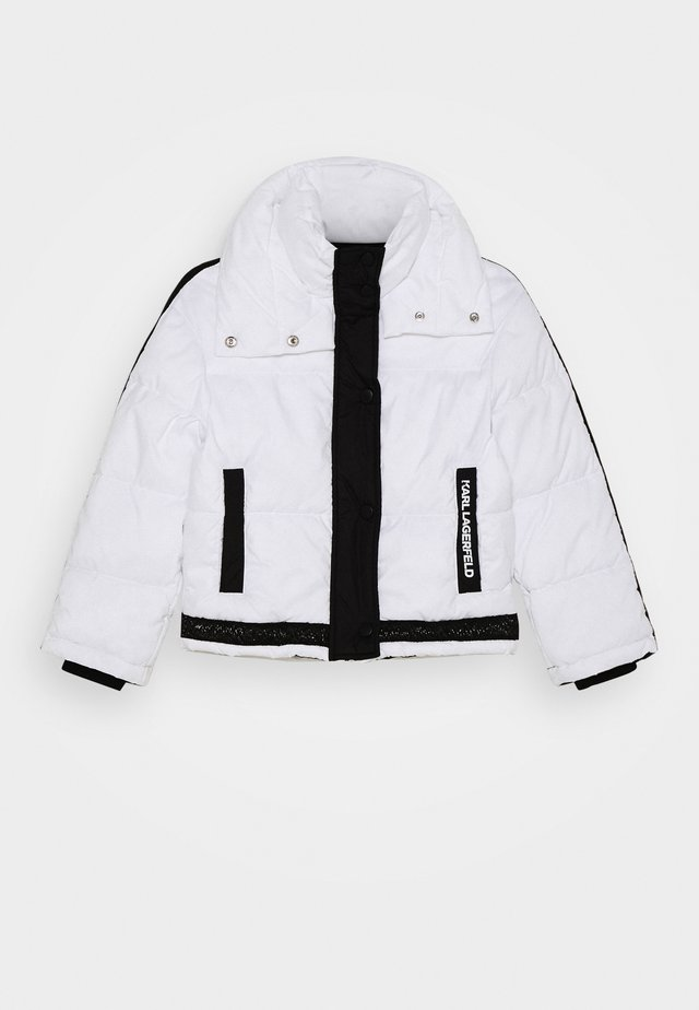 PUFFER JACKET - Chaqueta de invierno - white/black