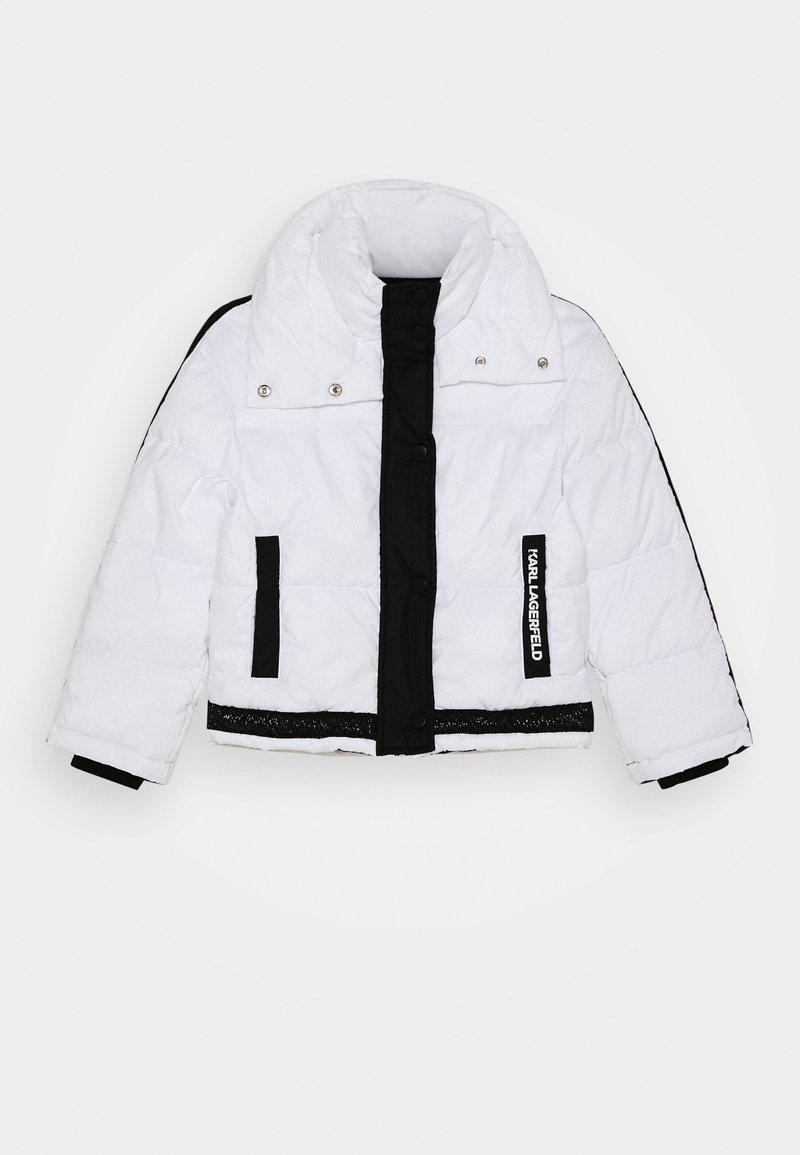 KARL LAGERFELD - PUFFER JACKET - Zimní bunda - white/black