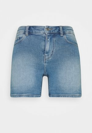PCKAMELIA FOLD UP - Denim shorts - light blue denim