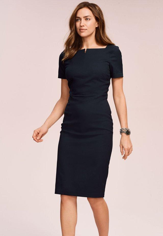 Shift dress - mottled blue