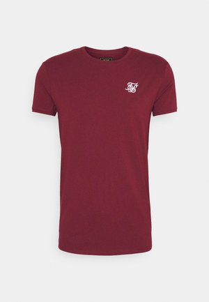 SHORT SLEEVE GYM - Basic T-shirt - burgundy