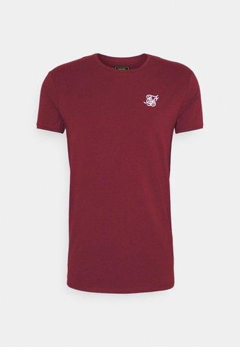 SHORT SLEEVE GYM - T-shirt - bas - burgundy
