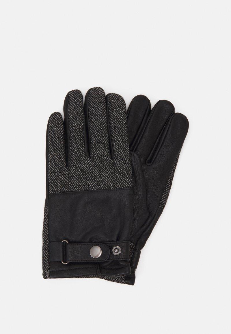 Pier One - Gloves - black/grey