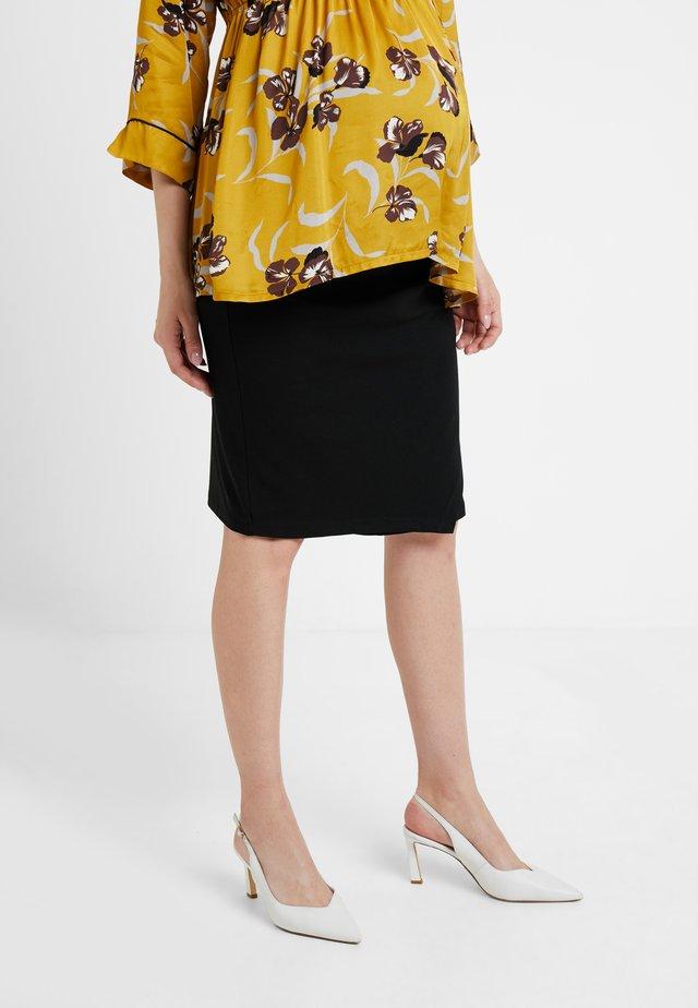 SKIRT KNEE - Pencil skirt - black