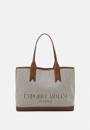 SHOPPING BAG - Shopping bag - white/tobacco/black/ecru