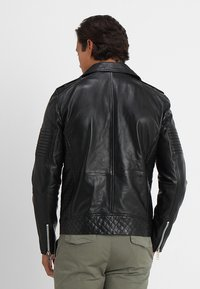 Solid - TRENT - Leather jacket - black - 2