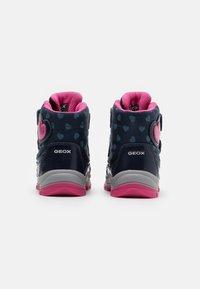 Geox - FLANFIL GIRL WPF - Winter boots - navy/fuchsia - 2