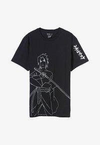 Bershka - NARUTO - T-shirt z nadrukiem - black - 4