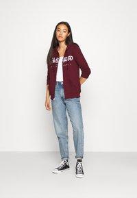 Hollister Co. - Zip-up hoodie - burgundy - 1