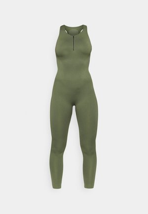 ZIP UP LONG BODYSUIT - Gym suit - green