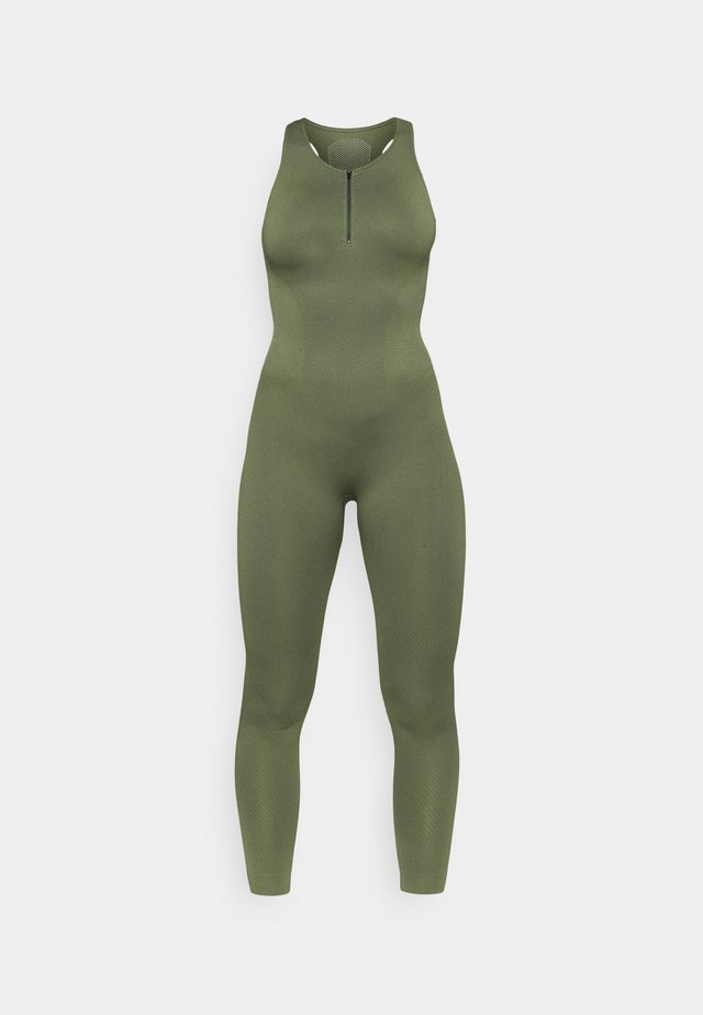 ZIP UP LONG BODYSUIT - heldräkt - green