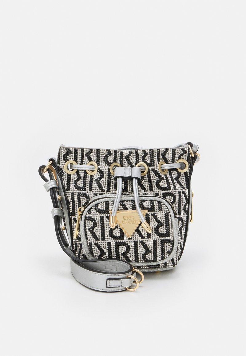 River Island - Across body bag - silver-coloured