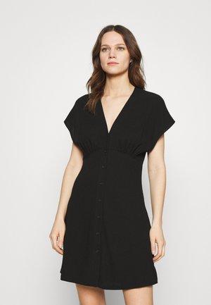 VALERIE SHORT DRESS - Košilové šaty - black