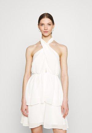 EXCLUSIVE MALVA HALTERNECK DRESS - Cocktail dress / Party dress - white