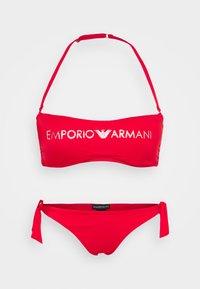 Emporio Armani - CUPS BAND & BRAZILIAN BOWS - Bikini - red - 5