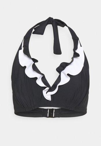 CAPRI FRILL TRIANGLE HIDDEN UNDERWIRED - Bikini top - black/white