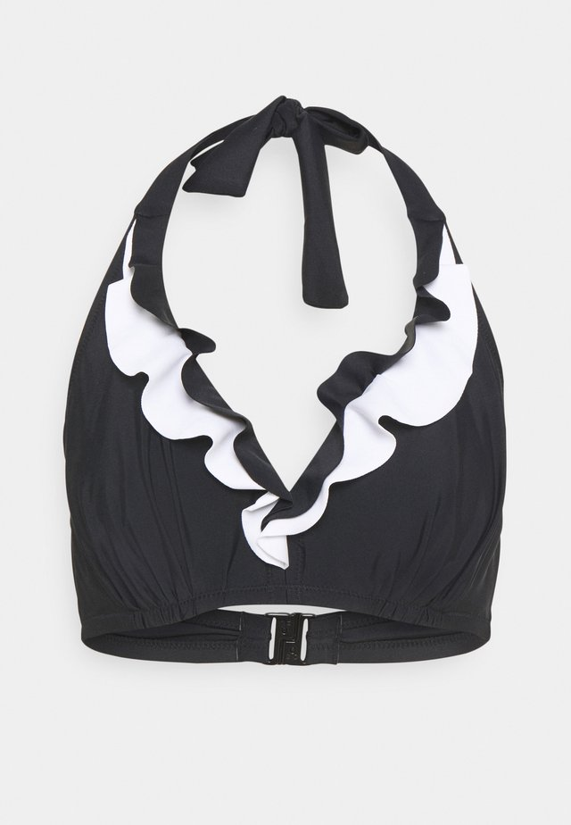 CAPRI FRILL TRIANGLE HIDDEN UNDERWIRED - Bikinitop - black/white
