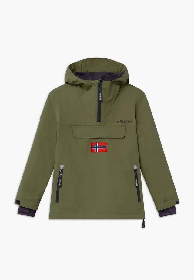 KIRKENES - Lyžařská bunda - khaki green/anthracite