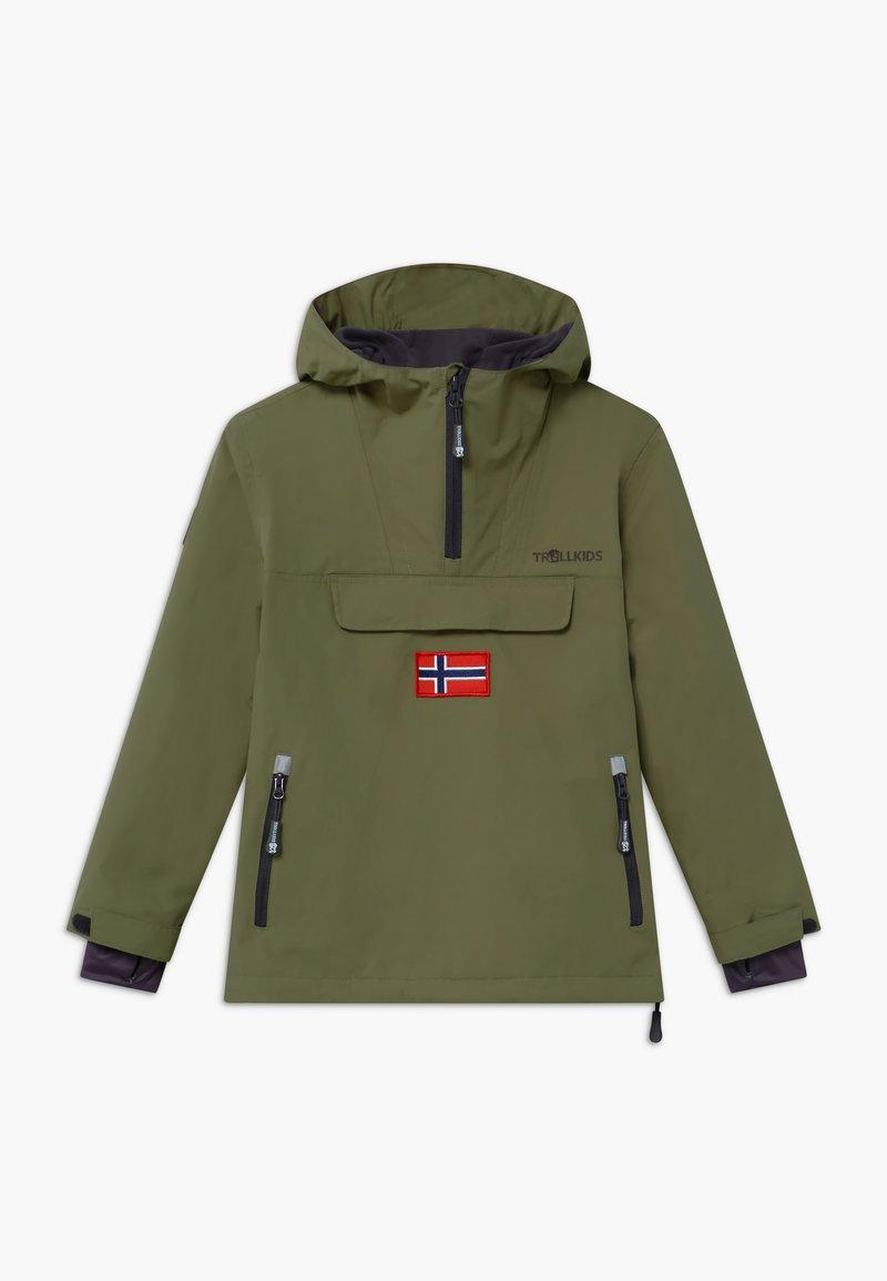 TrollKids - KIRKENES - Ski jacket - khaki green/anthracite
