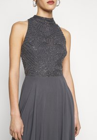 Lace & Beads Tall - AVERY HIGH LOW DRESS - Iltapuku - charcoal - 5