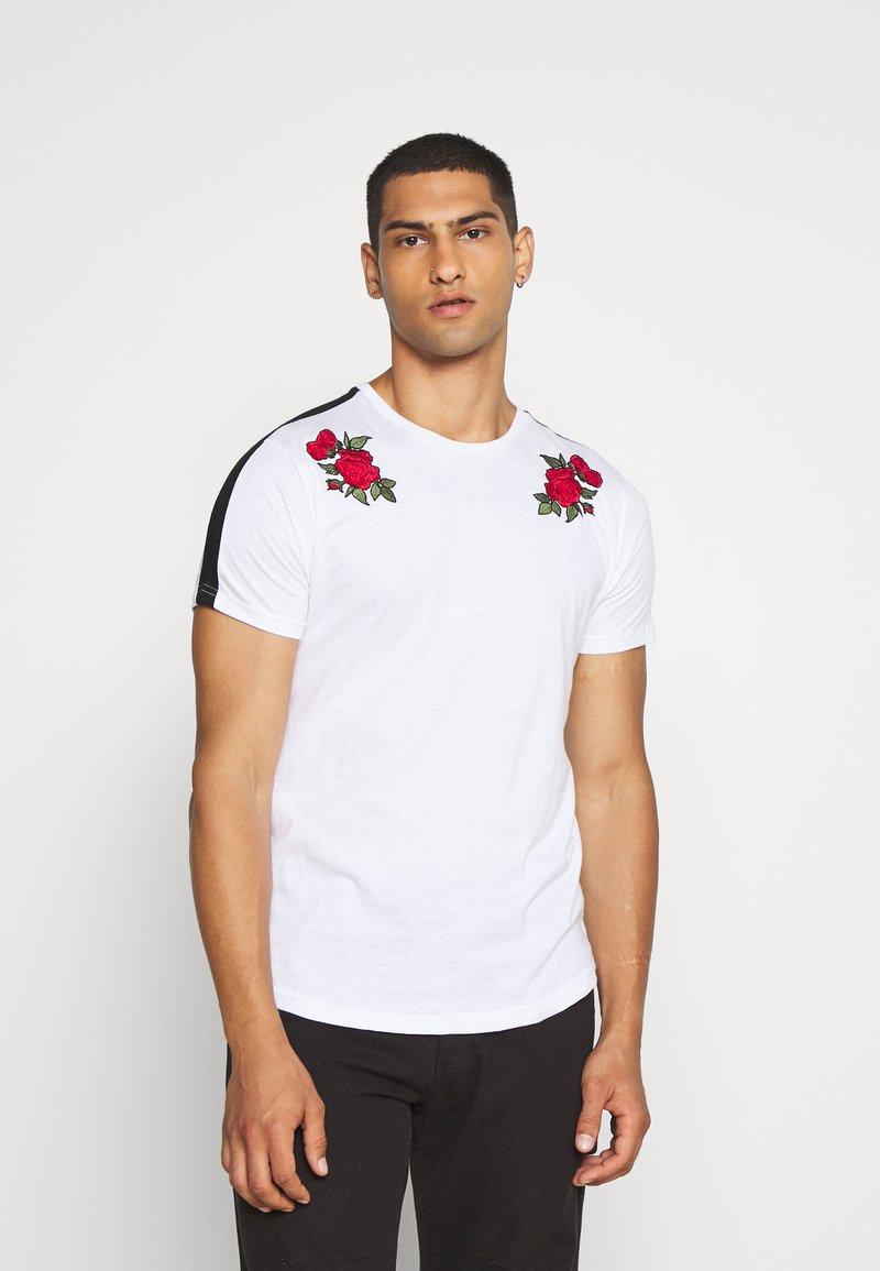 Brave Soul - LANTANA - Print T-shirt - optic white