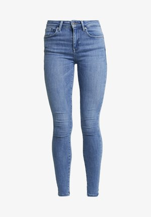 ONLPOWER MID PUSH UP - Skinny-Farkut - light blue denim