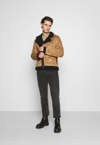 Nominal - AVIATOR  - Faux leather jacket - tan - 1