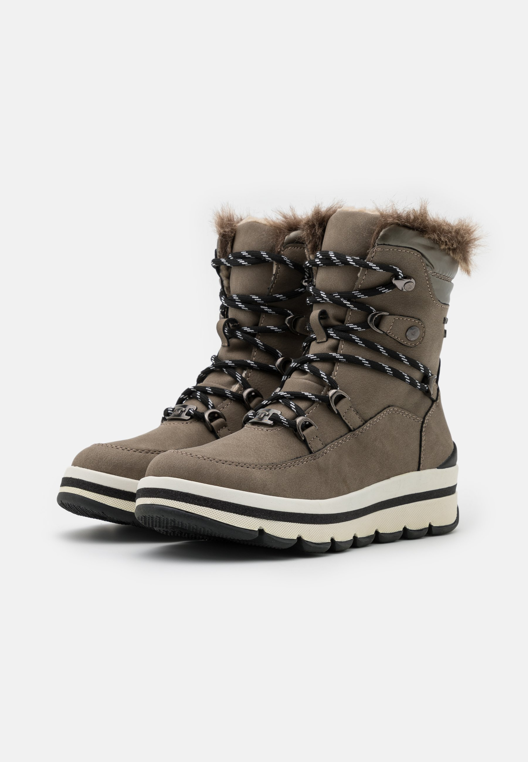 TOM TAILOR Snowboot/Winterstiefel mud/taupe